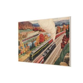 Johnstown, Pennsylvania (Commerce Trains) Gallery Wrap Canvas