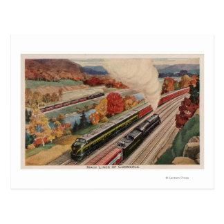 Johnstown, Pennsylvania (Commerce Trains) Postcard