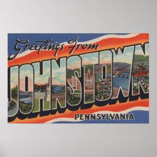 Johnstown, Pennsylvania - Large Letter Scenes 2 Poster