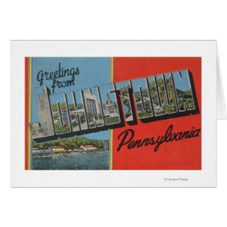 Johnstown, Pennsylvania - Large Letter Scenes Card