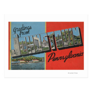 Johnstown, Pennsylvania - Large Letter Scenes Postcard