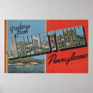 Johnstown, Pennsylvania - Large Letter Scenes Poster