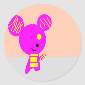 johnzy's mel classic round sticker