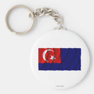 Johor waving flag keychain