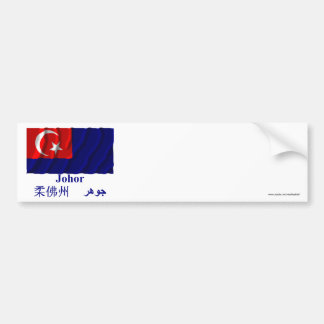 Johor waving flag with name bumper sticker