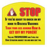 JoHoVaxx Witnesses Door Sign
