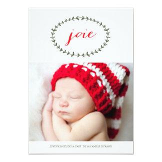 Joie Pure Carte de Noël 5x7 Paper Invitation Card