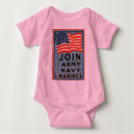 Join Army, Navy, Marines WPA 1917 Baby Bodysuit