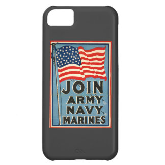 Join Army, Navy, Marines WPA 1917 Cover For iPhone 5C