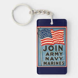 Join Army, Navy, Marines WPA 1917 For sale Keychain