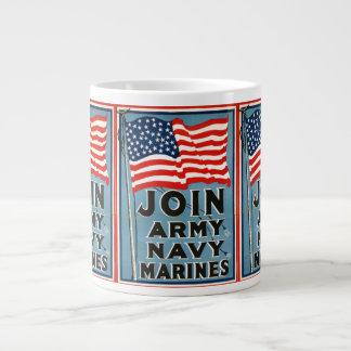 Join Army, Navy, Marines WPA 1917 Giant Coffee Mug