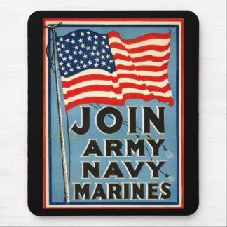 Join Army, Navy, Marines WPA 1917 Mouse Pad