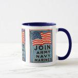 Join Army, Navy, Marines WPA 1917 Mug