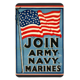Join Army, Navy, Marines WPA 1917 Magnets