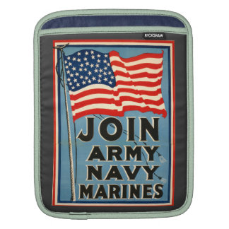 Join Army, Navy, Marines WPA 1917 Sleeves For iPads