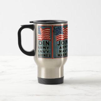 Join Army, Navy, Marines WPA 1917 Travel Mug