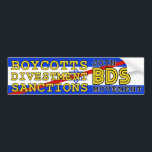 """Join BDS movement boycott Israel Bumper Sticker<br><div class=""""desc"""">Join the BDS movement  Boycotts Divestment Sanctions movement  Boycott Israeli products and services  worldwide grassroots movement to place economic pressure on Israel to abide by international law and stop war of aggression against Palestinians.</div>"""