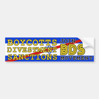 Join BDS movement boycott Israel Car Bumper Sticker