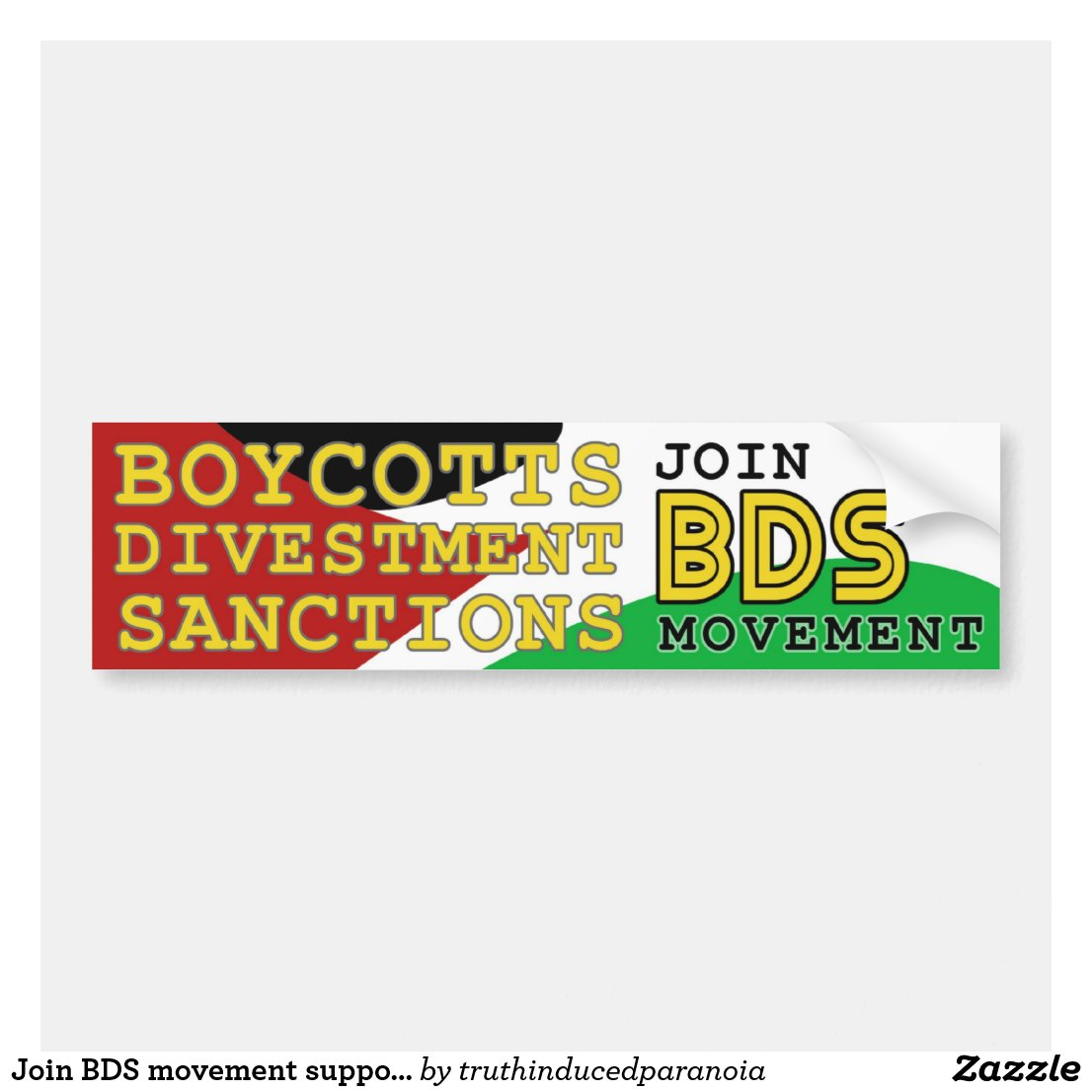 Join BDS movement support Palestine Bumper Sticker