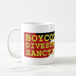 Join BDS movement support Palestine Coffee Mug