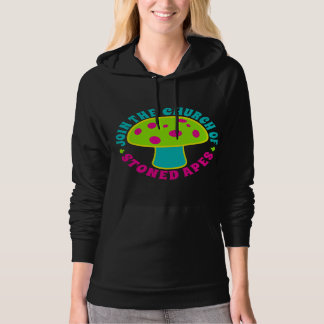Join Church Of Stoned Apes - Magic Mushrooms, Glow Hoodie