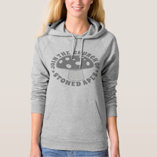 Join Church Of Stoned Apes - Magic Mushrooms, Gray Hoodie