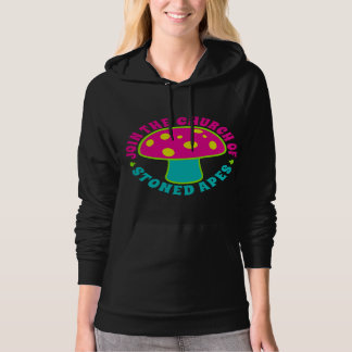 Join Church Of Stoned Apes - Magic Mushrooms, Neon Hoodie