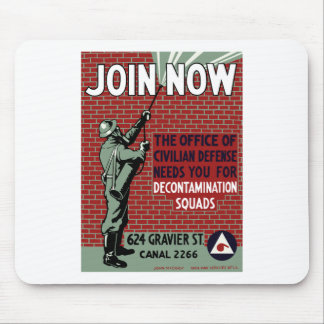 Join Civilian Defense -- WPA Mouse Pad