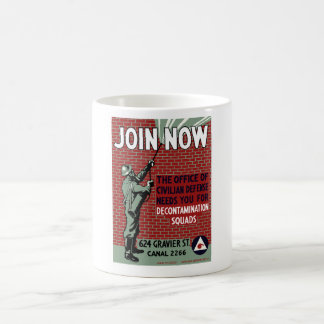 Join Civilian Defense -- WPA Classic White Coffee Mug