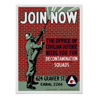 Join Civilian Defense -- WPA Poster