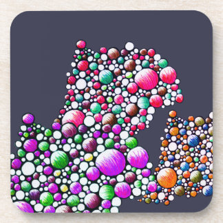 Join - coaster with colorful bubbling design