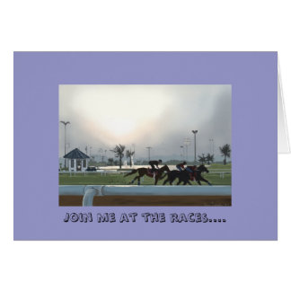 Join Me At The Races Greeting Card