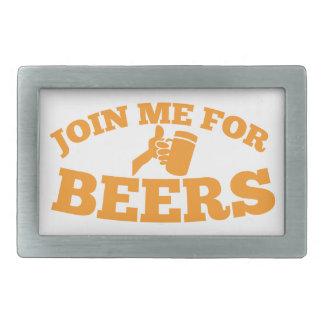 Join me for BEERS! Rectangular Belt Buckle