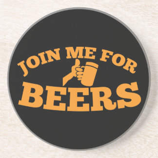 Join me for BEERS! Sandstone Coaster