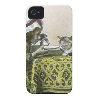 Join me for Tea Kitty Vintage Victorian Tea Party Case-Mate iPhone 4 Case
