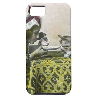 Join me for Tea Kitty Vintage Victorian Tea Party iPhone SE/5/5s Case
