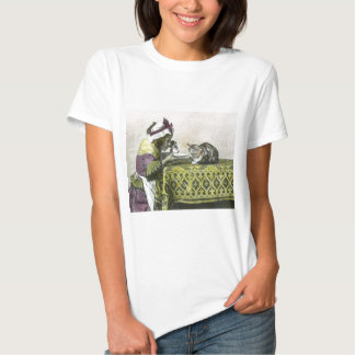 Join me for Tea Kitty Vintage Victorian Tea Party T-shirt