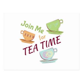 Join Me For Tea Postcard