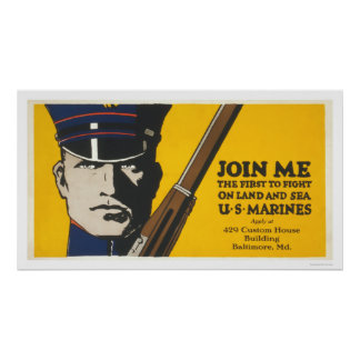Join me - U.S. Marines Poster