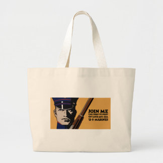 Join Me ~ US Marines Large Tote Bag