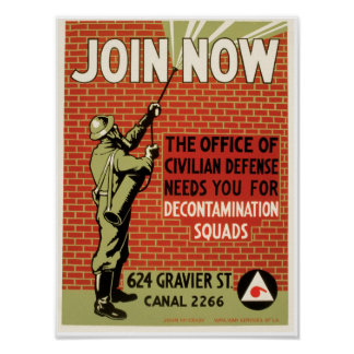 Join Now ~ Civil Defense Poster