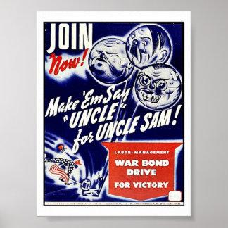 Join Now Make 'Emsay Uncle For Uncle Sam Print
