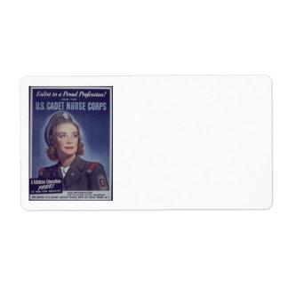 Join Nurse Cadets Personalized Shipping Label