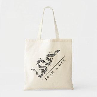 Join Or Die :: $13.95 Tote Bag