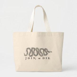 join or die 50 states jumbo tote bag