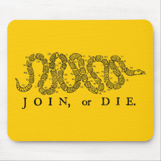 join or die 50 states mouse pad