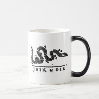 Join, or Die American Snake Magic Mug