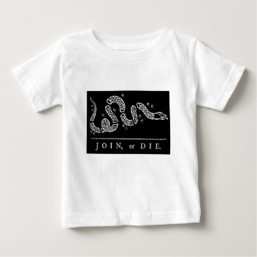 USA Themed Join Or Die Baby T-Shirt
