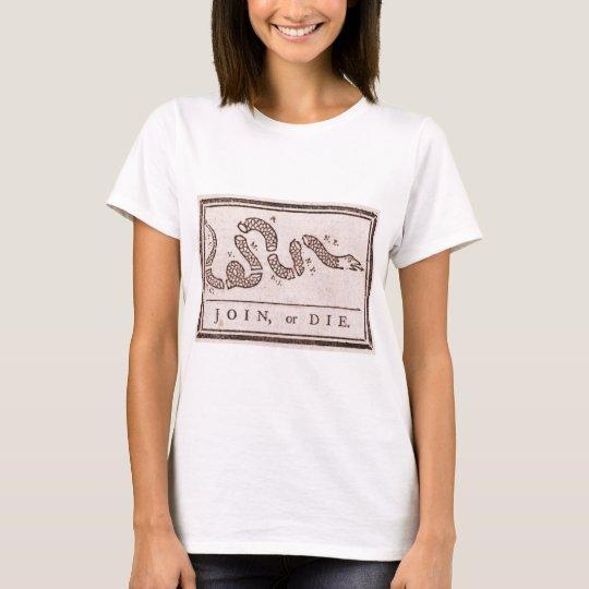 Join or Die Benjamin Franklin Political Cartoon T-Shirt