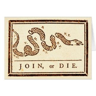 Join or Die Card